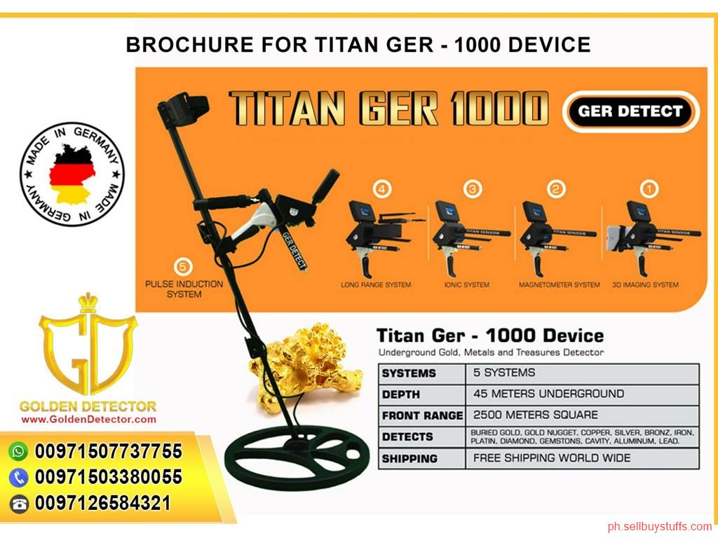 Philippines Classifieds Gold and treasure detector titan ger 1000