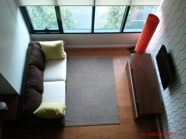 Philippines Classifieds Fully Furnished One bedroom Loft Condo with Parking for Rent in Mckinley Hill Makati City